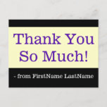 """[ Thumbnail: Corporate, Simple """"Thank You So Much!"""" Postcard ]"""