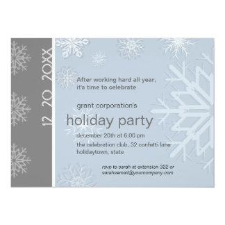 Corporate Snowflake Holiday Party 5.5x7.5 Paper Invitation Card