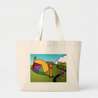 Corporate Spy Cartoon Large Tote Bag
