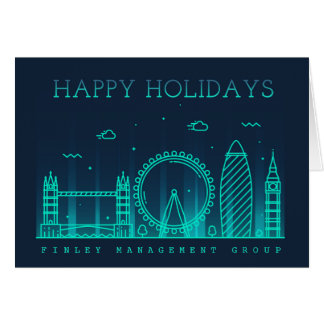Corporate Style London Skyline Holiday Card