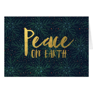 Corporate Style Peace on Earth Holiday Card