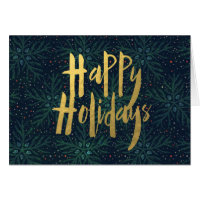 Corporate Style Pine Happy Holidays Card