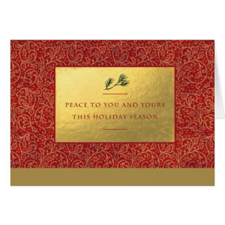 Corporate Style Red Holly Card