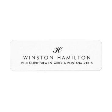 Professional Business Corporate Style White Return Address Label