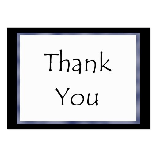 Corporate thank you card for Thank you business card