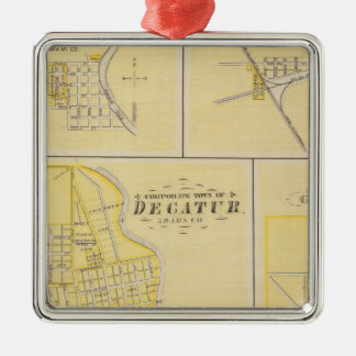 Corporate Town of Decatur Metal Ornament