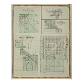 Corporate Town of Fowler, Benton Co Poster