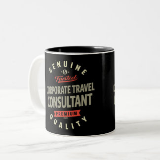 Corporate Travel Consultant Two-Tone Coffee Mug