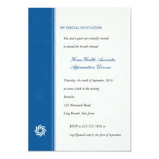 Corporate Vines Blue 5x7 Paper Invitation Card
