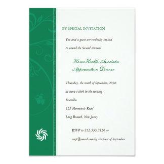 Corporate Vines Emerald 5x7 Paper Invitation Card
