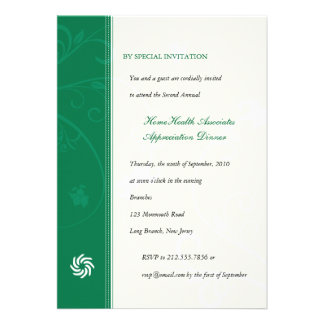 Corporate Vines Emerald Personalized Announcement