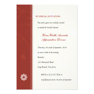 Corporate Vines Scarlet Personalized Invites