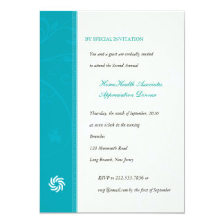 Corporate Vines Turquoise Card