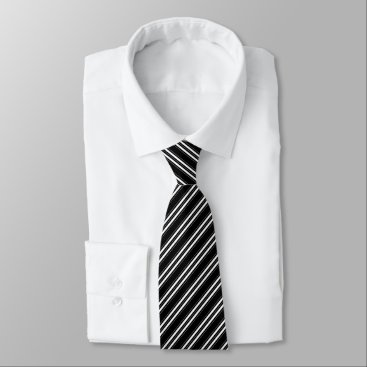 Professional Business Corporate White Striped Pattern Tie