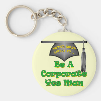 Corporate Yes Man Key Chain