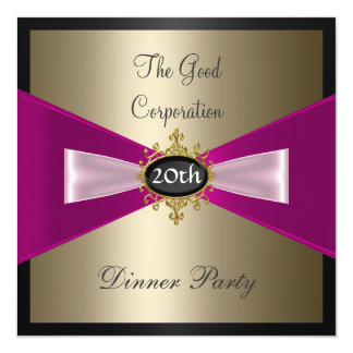 Corporation Annual Dinner Party Invitation