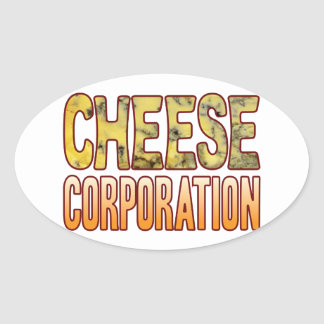 Corporation Blue Cheese Oval Sticker
