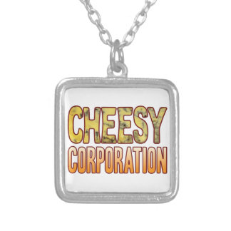 Corporation Blue Cheesy Silver Plated Necklace