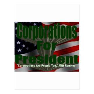 Corporations 4 President Postcard