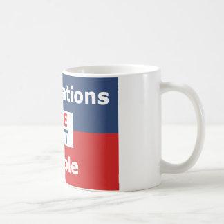 Corporations are not people coffee mug