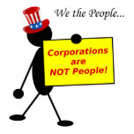 Corporations are NOT People Cut Out