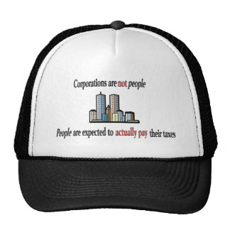 Corporations are not people Hat