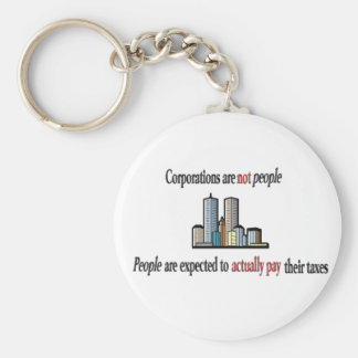 Corporations are not people Keychain