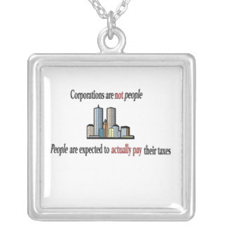 Corporations are not people Necklace