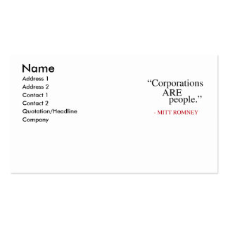 Corporations are People Business Cards