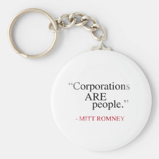 Corporations are People.png Basic Round Button Keychain