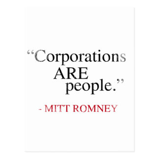 Corporations are People.png Postcard