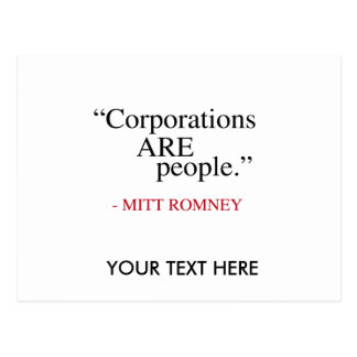 Corporations are People Postcard