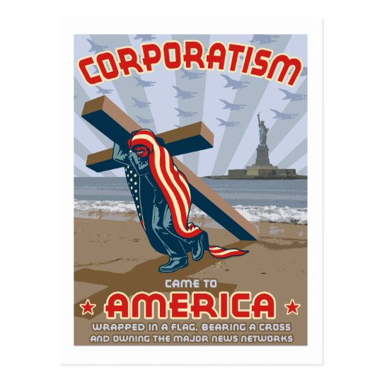 Corporatism Postcard