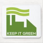 Corporativo guarde el verde tapete de ratón