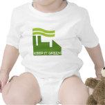 Corporativo guarde el verde traje de bebé