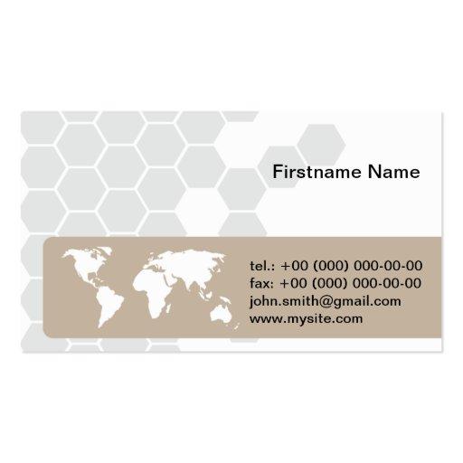 Corporativo internacional del globo global del tarjetas personales
