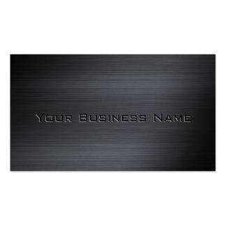 Corporativo metálico cepillada negro tarjetas de visita