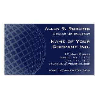 Corporativo moderno azul marino elegante global tarjetas de visita