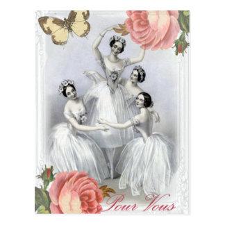 Corps de ballet postcard