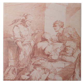 Corps de Garde (Barbarians Defeated by a Book) (re Ceramic Tile