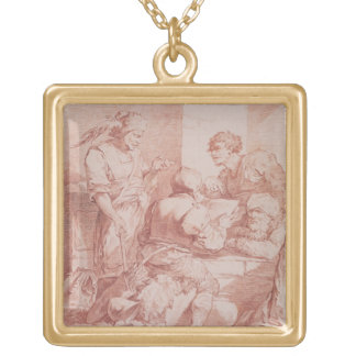 Corps de Garde (Barbarians Defeated by a Book) (re Gold Plated Necklace