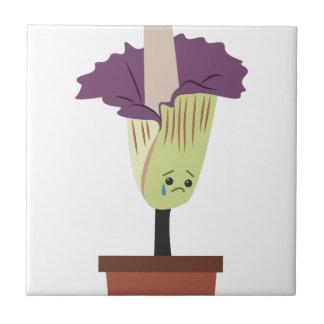 Corpse Flower Ceramic Tile