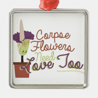 Corpse Flowers Metal Ornament