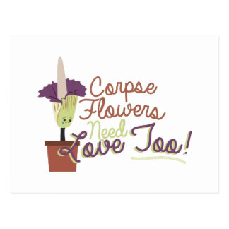 Corpse Flowers Postcard