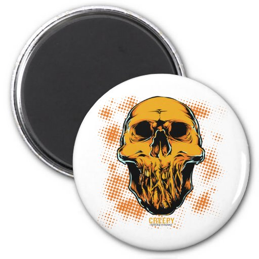 Corpse Head 2 Inch Round Magnet