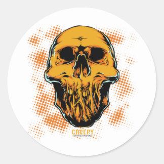 Corpse Head Classic Round Sticker