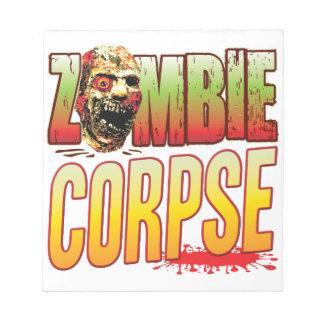Corpse Zombie Head Scratch Pad