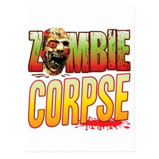 Corpse Zombie Head Postcard