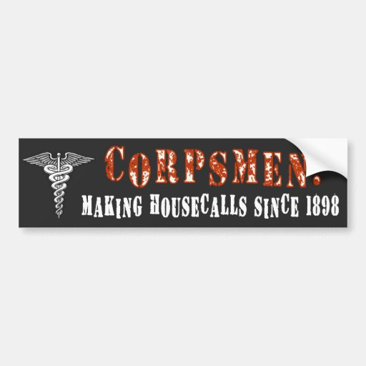 Corpsman 1 bumper sticker
