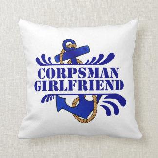 Corpsman Girlfriend, Anchors Away! Pillow